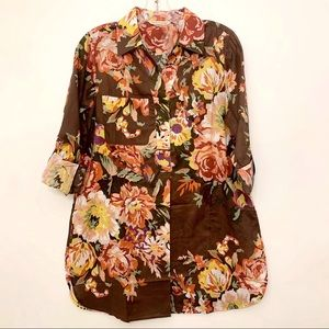 NWOT SOFT SURROUNDINGS VINTAGE FLORAL TUNIC